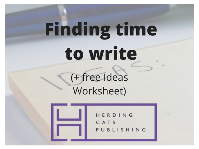 How to find time to write (plus free cheat sheet)