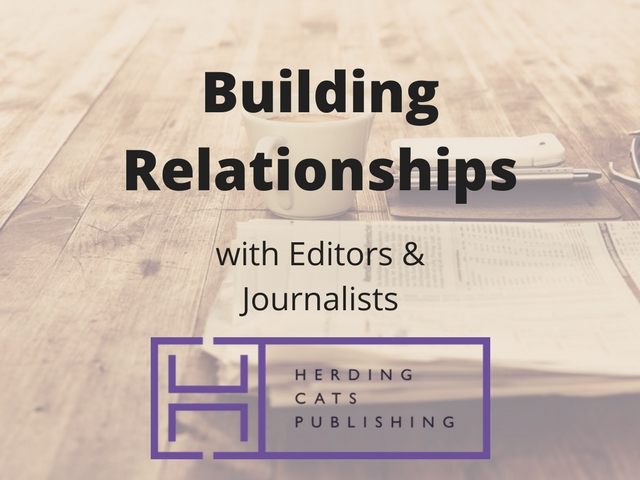 Building relationships with editors