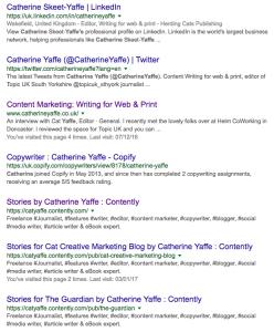 Catherine Yaffe Media presence