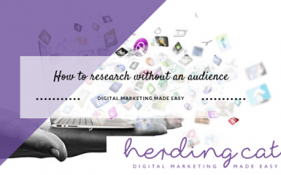 Digital Marketing: How to carry out research when you have no audience
